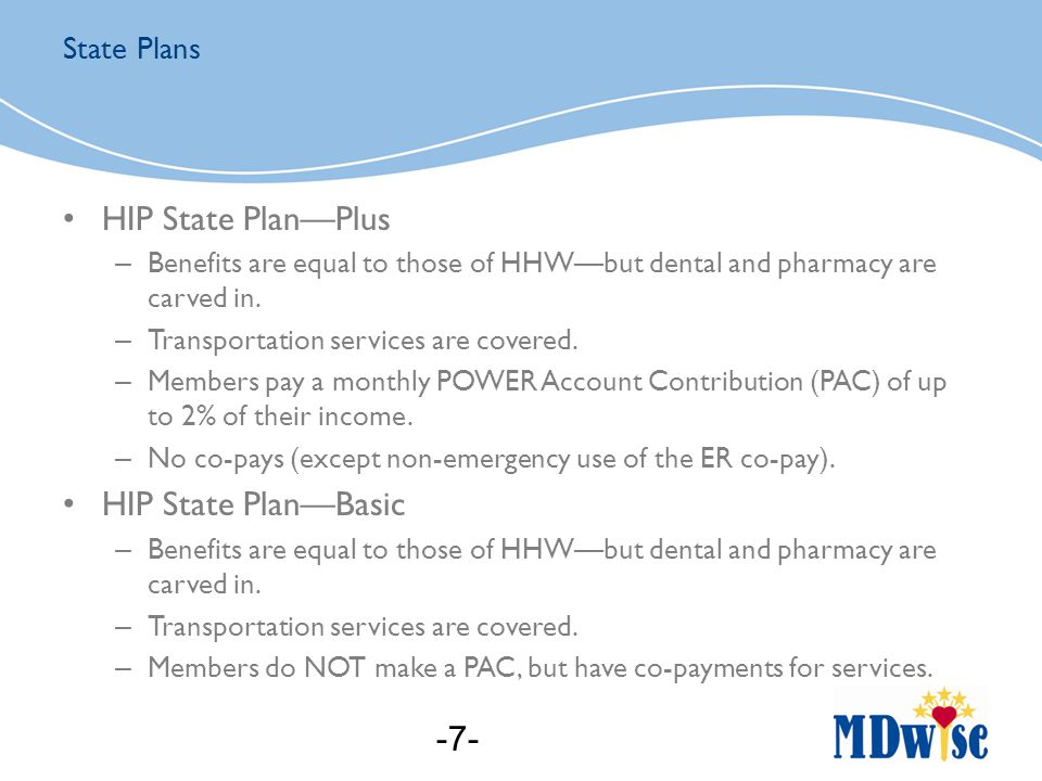 HIP Plus is the default plan that all members will fall into (up to 138% FPL).