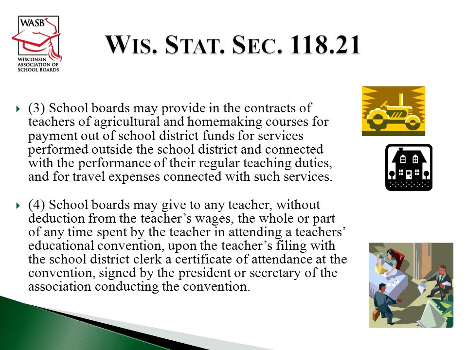  (3) School boards may provide in the contracts of teachers of agricultural and homemaking courses for payment out of school district funds for services performed outside the school district and connected with the performance of their regular teaching duties, and for travel expenses connected with such services.