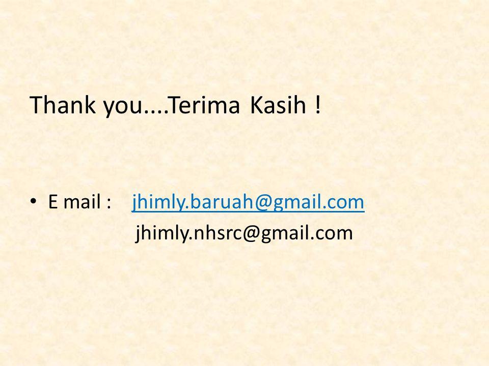 Thank you....Terima Kasih ! E mail : jhimly.baruah@gmail.com jhimly.nhsrc@gmail.com
