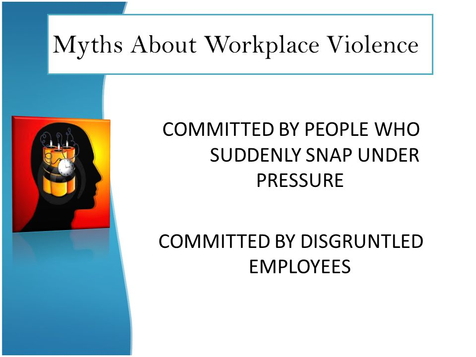Components Of A Workplace Violence Prevention Program Pre-employment screening – Our HR Process to include interviews, reference and background checks Zero-tolerance policy – HS Policy 7313 Appropriate disciplinary procedures – Utilization of HR training for managers and supervisors and seeking assistance from HR on consistency of practice Grievance procedures – In place Violence prevention training – System wide