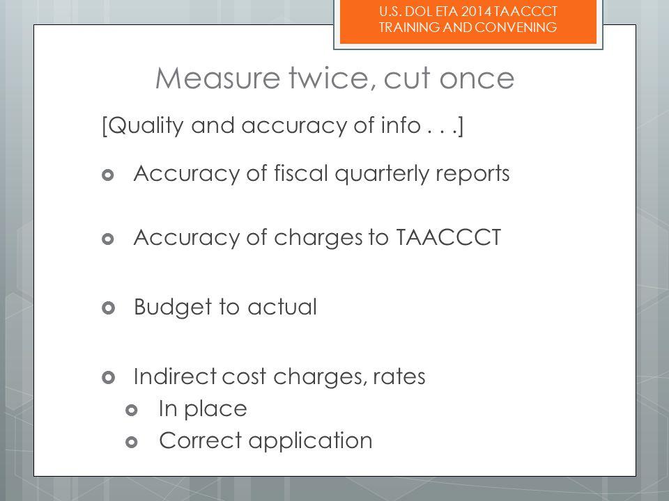 U.S.DOL ETA 2014 TAACCCT TRAINING AND CONVENING 1.