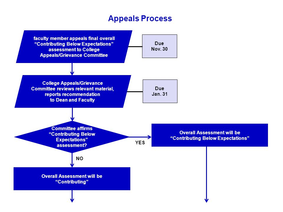 Appeals Process Committee affirms Contributing Below Expectations assessment.