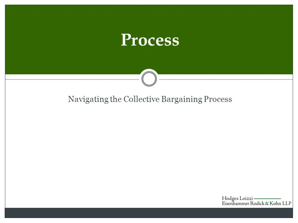Navigating the Collective Bargaining Process Process
