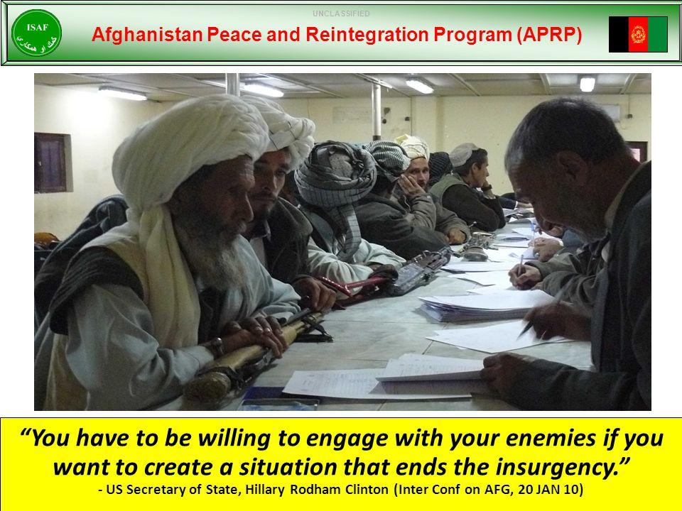 Afghan Government Led Program.