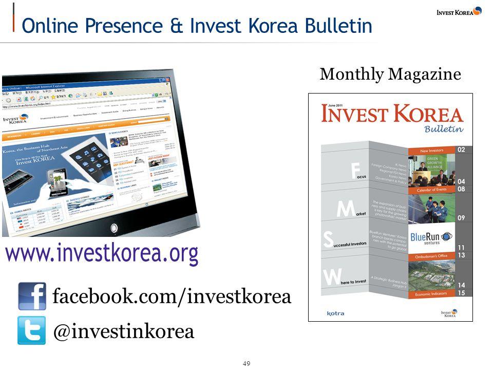49 Monthly Magazine facebook.com/investkorea @investinkorea