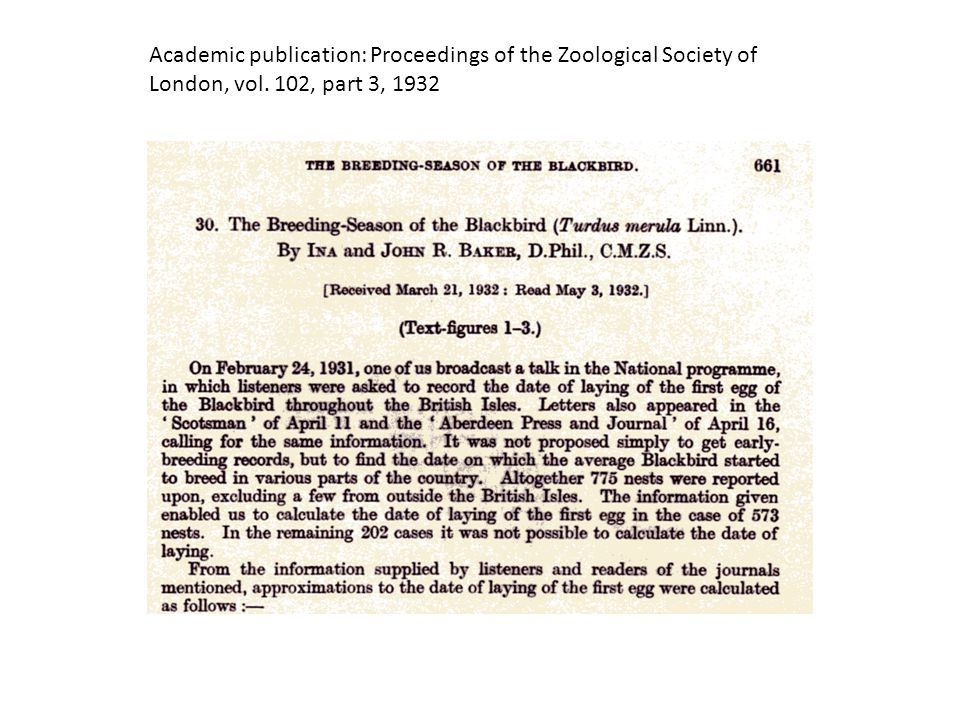 Academic publication: Proceedings of the Zoological Society of London, vol. 102, part 3, 1932