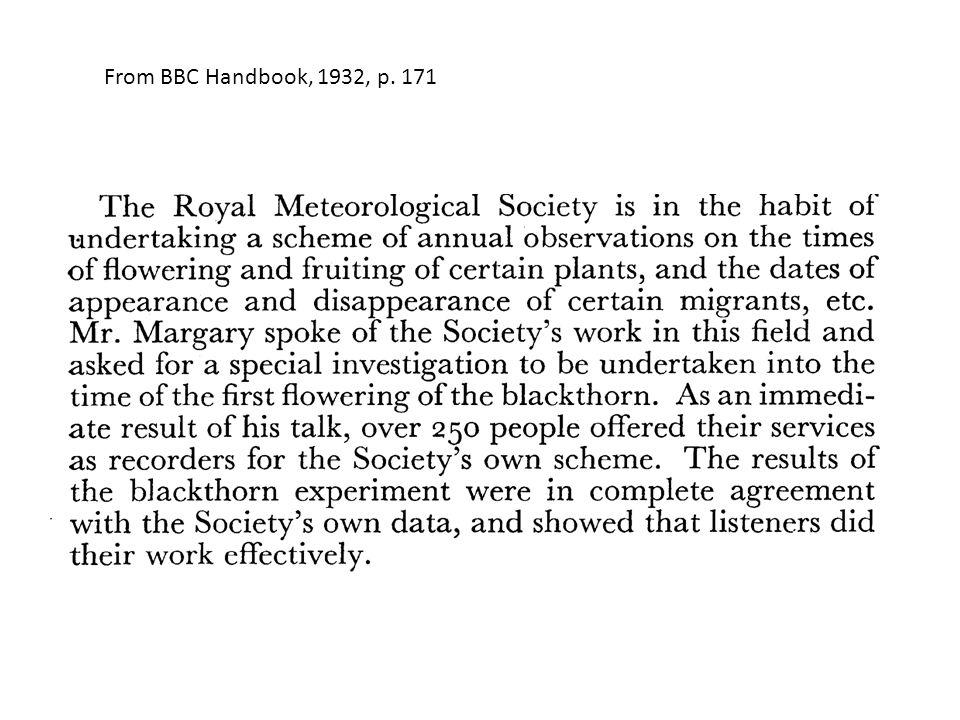 From BBC Handbook, 1932, p. 171