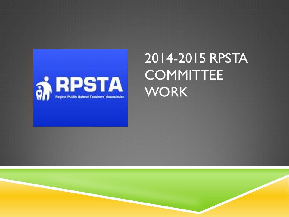 2014-2015 RPSTA COMMITTEE WORK