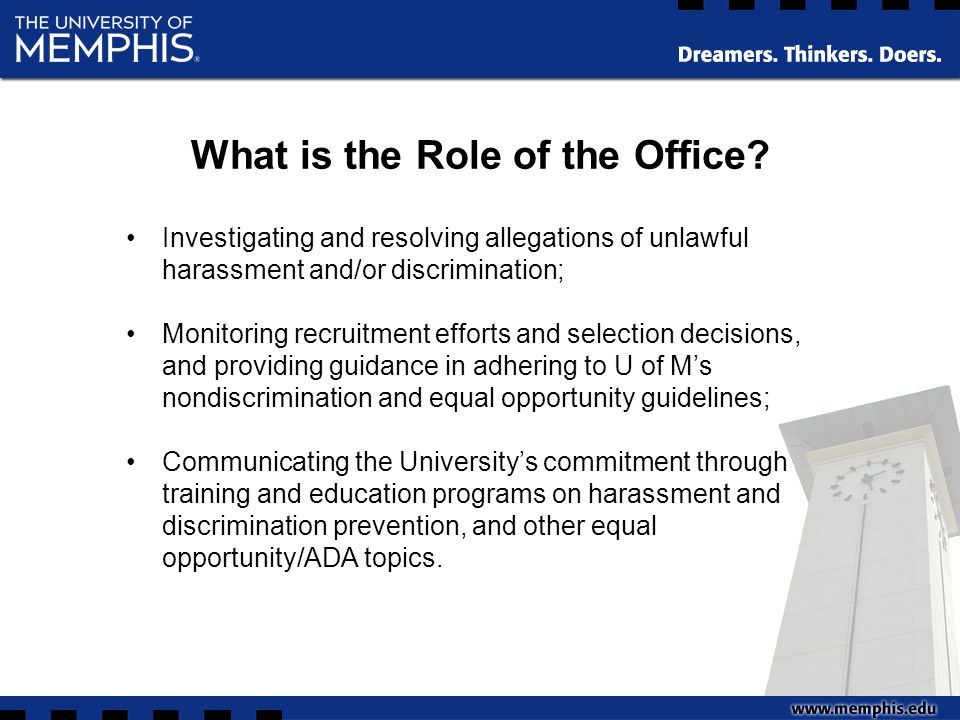 Recruitment Outreach (Conducting search committee briefings) Developing Strategic Alliances (Establishing an EO Advisory Committee) Revising/updating the online Title VI and Title IX training modules Partnering with HR and Legal to develop a Performance Management training module for supervisors/managers FY 2013-14 Goals/Objectives