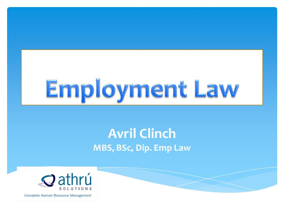 Are you Employment Law Complaint???