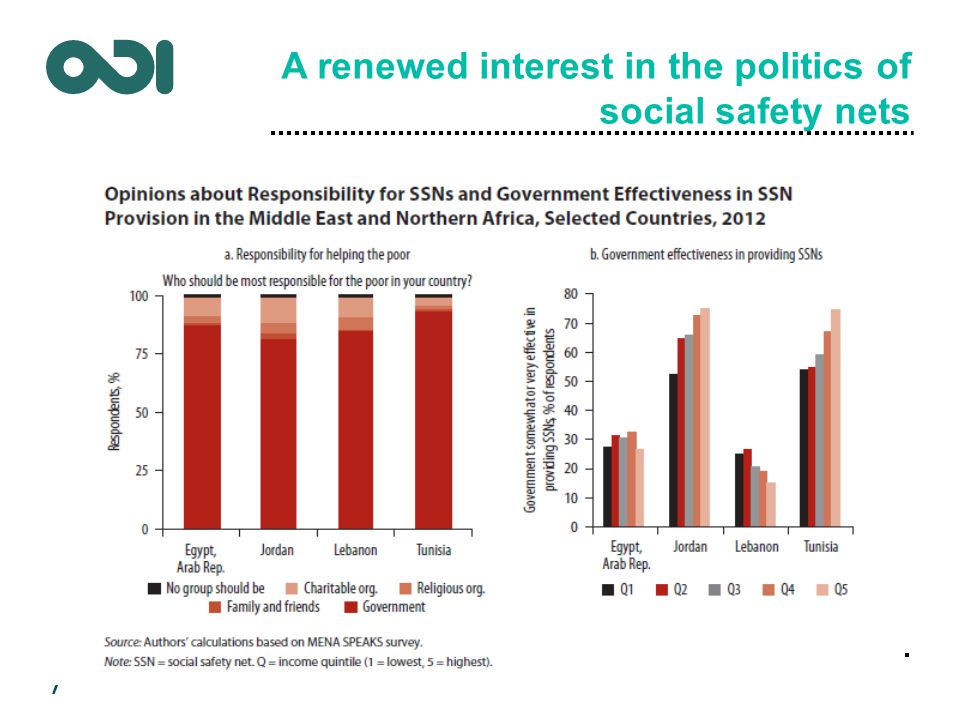 A renewed interest in the politics of social safety nets 7