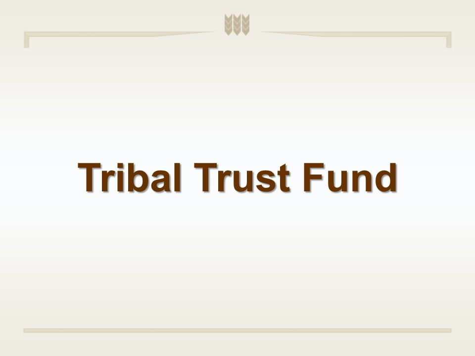 Tribal Trust Fund