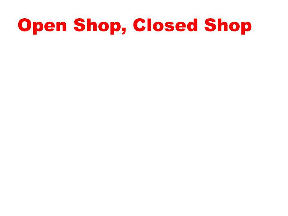Open Shop, Closed Shop