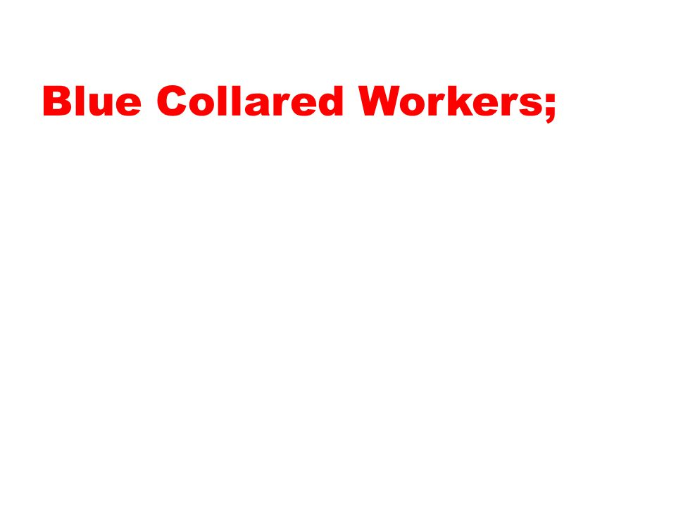 Blue Collared Workers;