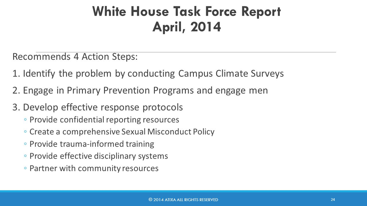 White House Task Force Report April, 2014 4.