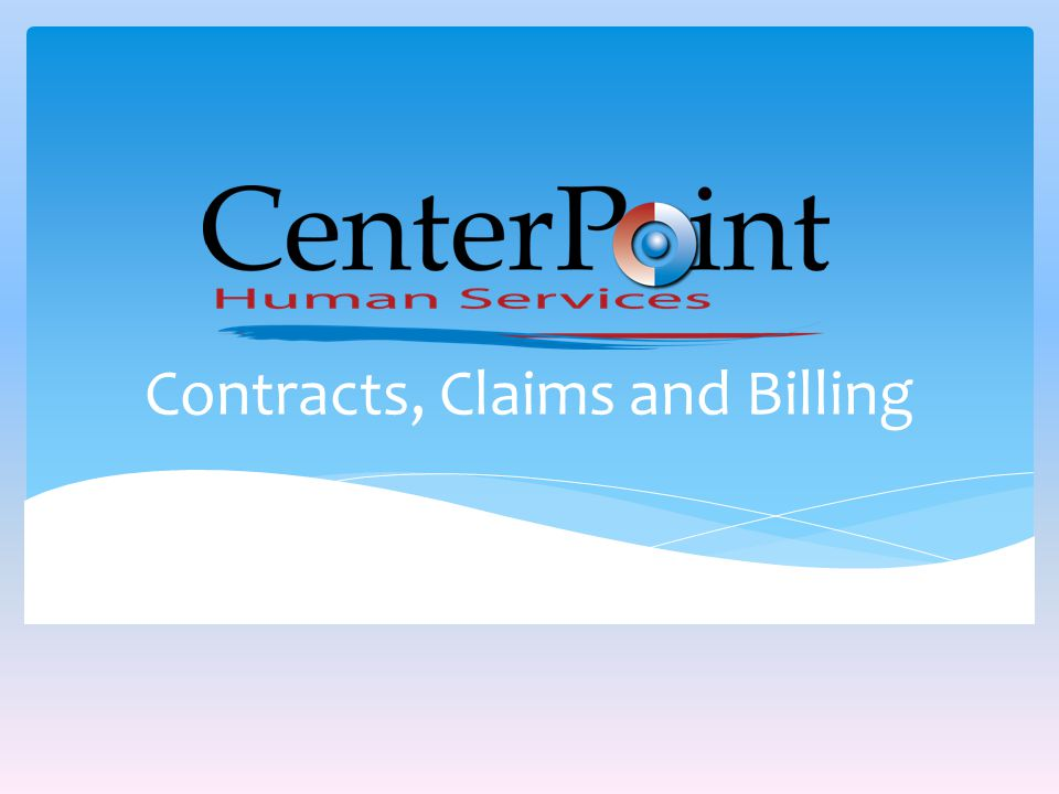 Contracts, Claims and Billing