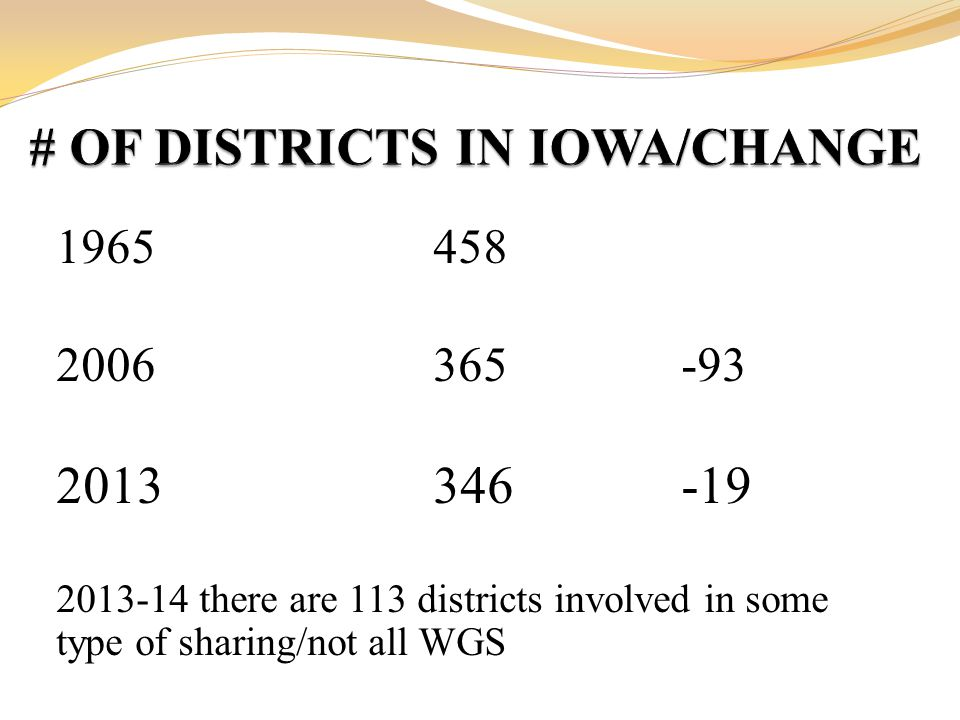 1965458 2006365-93 2013346-19 2013-14 there are 113 districts involved in some type of sharing/not all WGS
