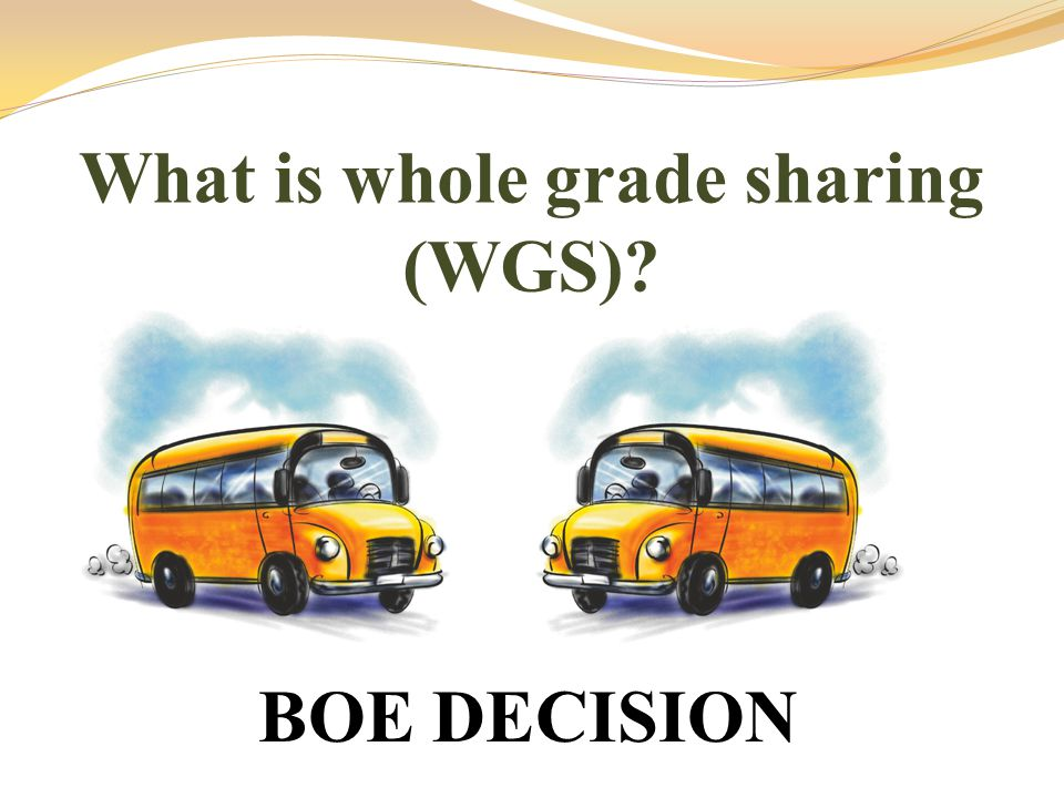 What is whole grade sharing (WGS)? BOE DECISION