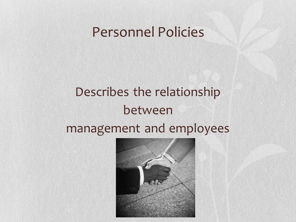 Describes the relationship between management and employees