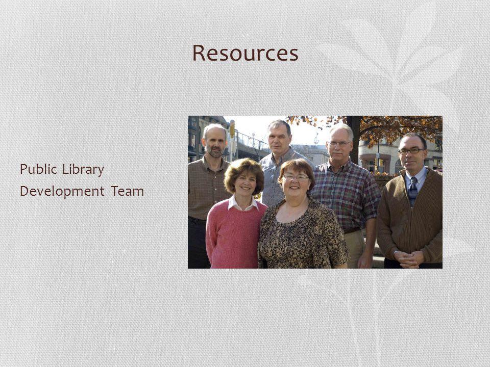 Resources Public Library Development Team