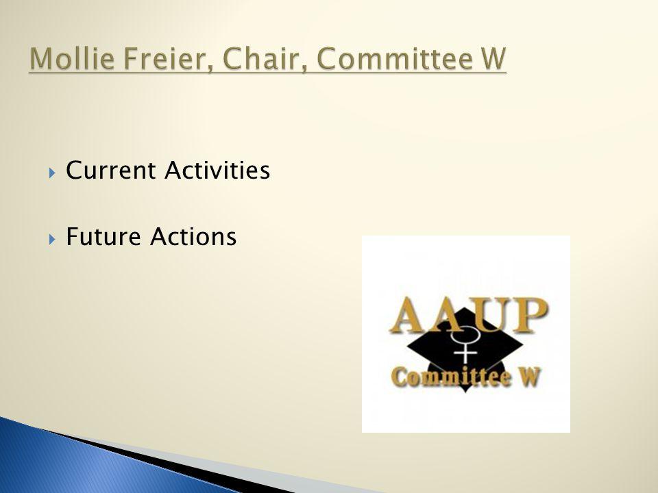 Current Activities  Future Actions