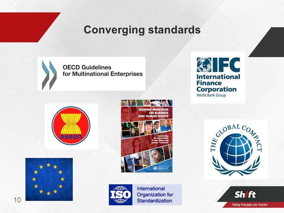 10 Converging standards