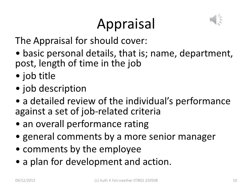 Activity 2 Describe your organisation's appraisal and review process and produce examples of appraisals and reviews you have completed. Note on the SM