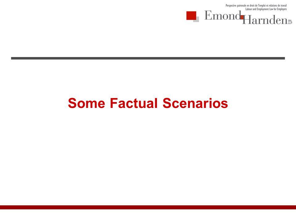 Some Factual Scenarios