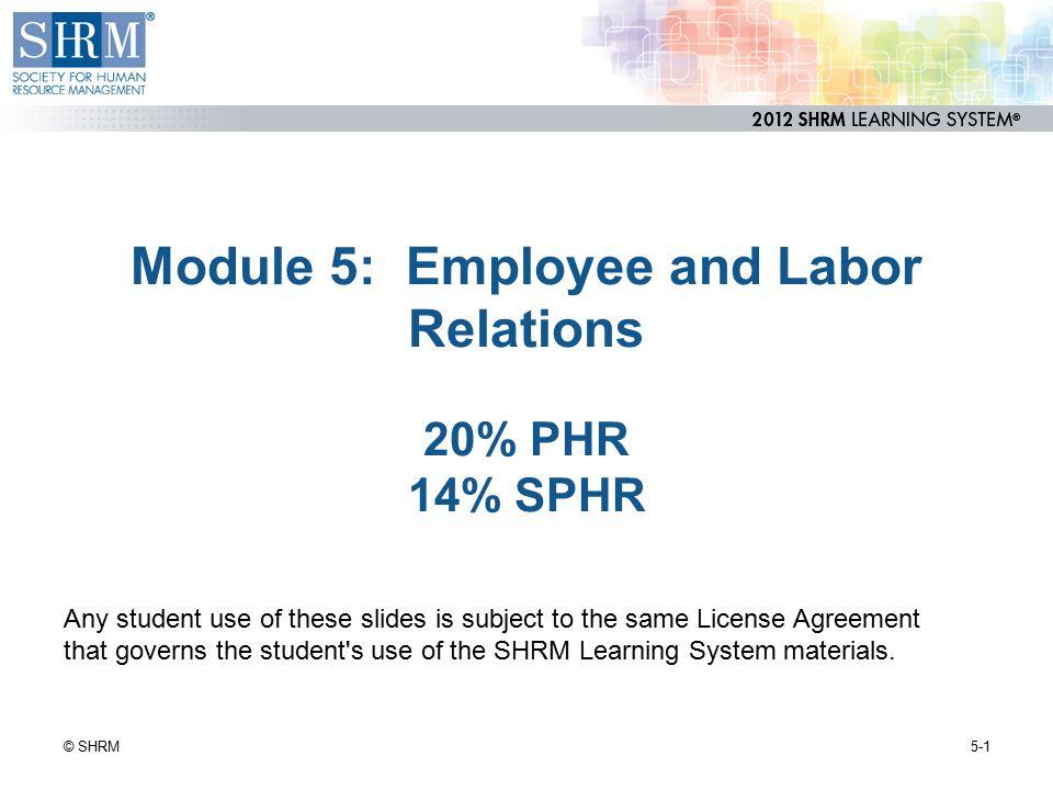 Labor-Management Cooperative Strategies 5-22© SHRM