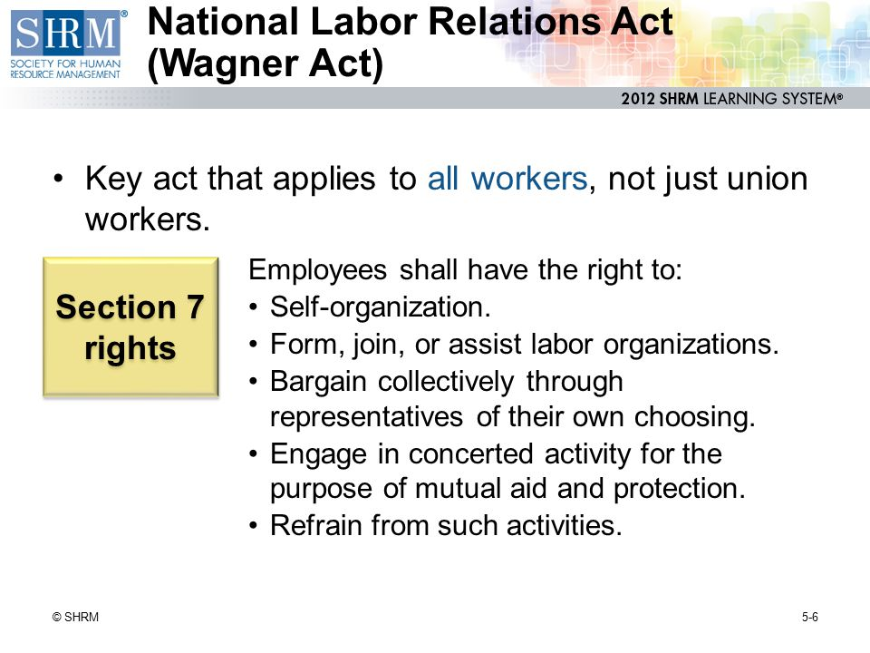 Agreements Enforced by Law 5-17© SHRM