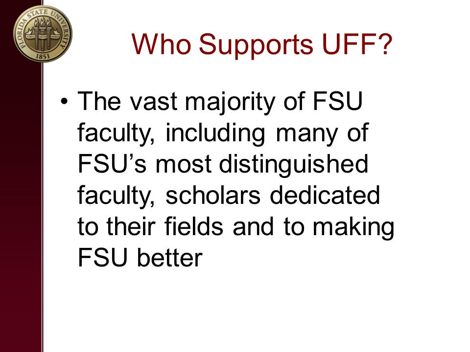 Who Supports UFF.