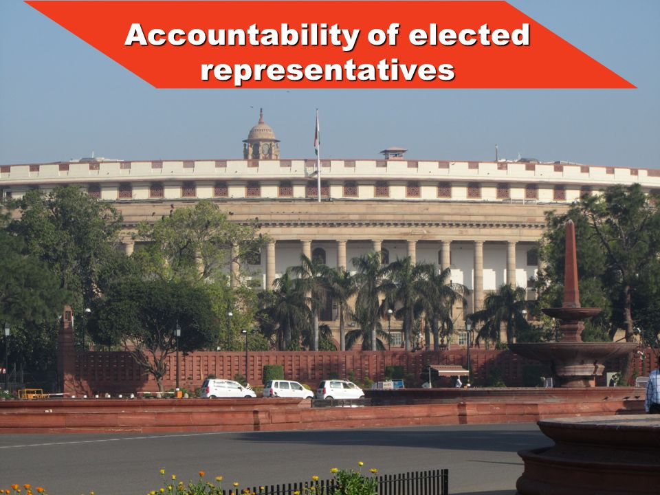 Accountability of elected representatives