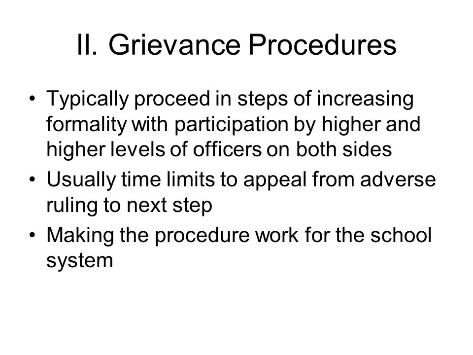 III.Arbitration of Grievances How is hearing conducted.