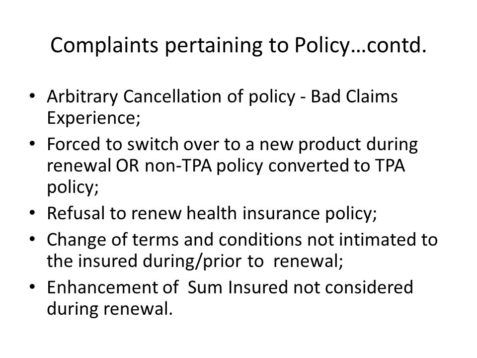 Policy Related complaints vis-à-vis Total Complaints – 1.4.2011 to 31.12.2011-IGMS DATA 35%