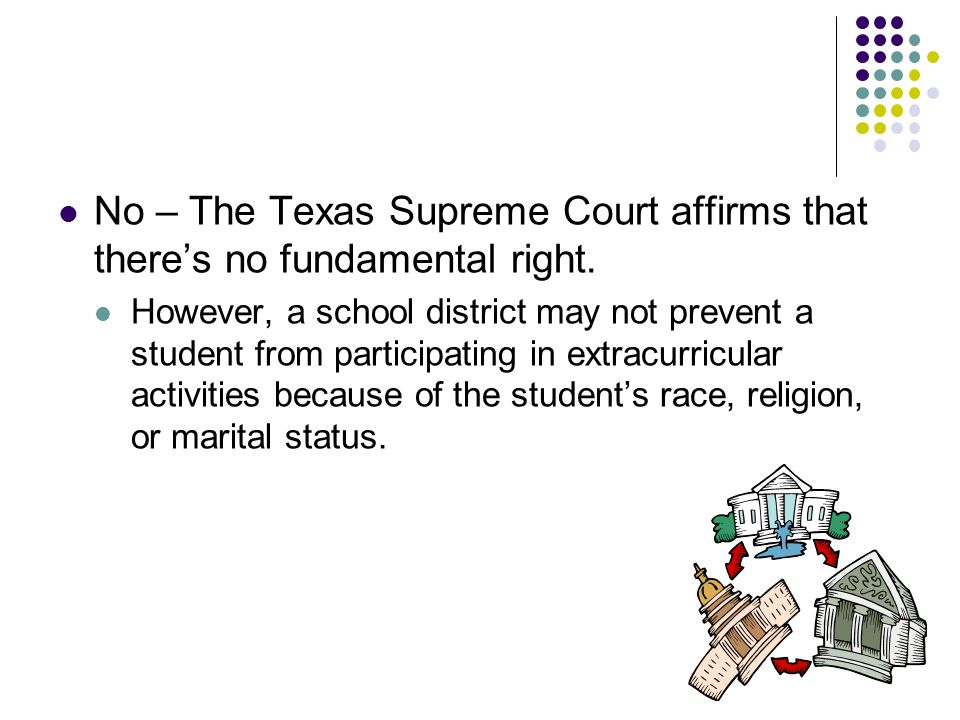 No – The Texas Supreme Court affirms that there's no fundamental right.