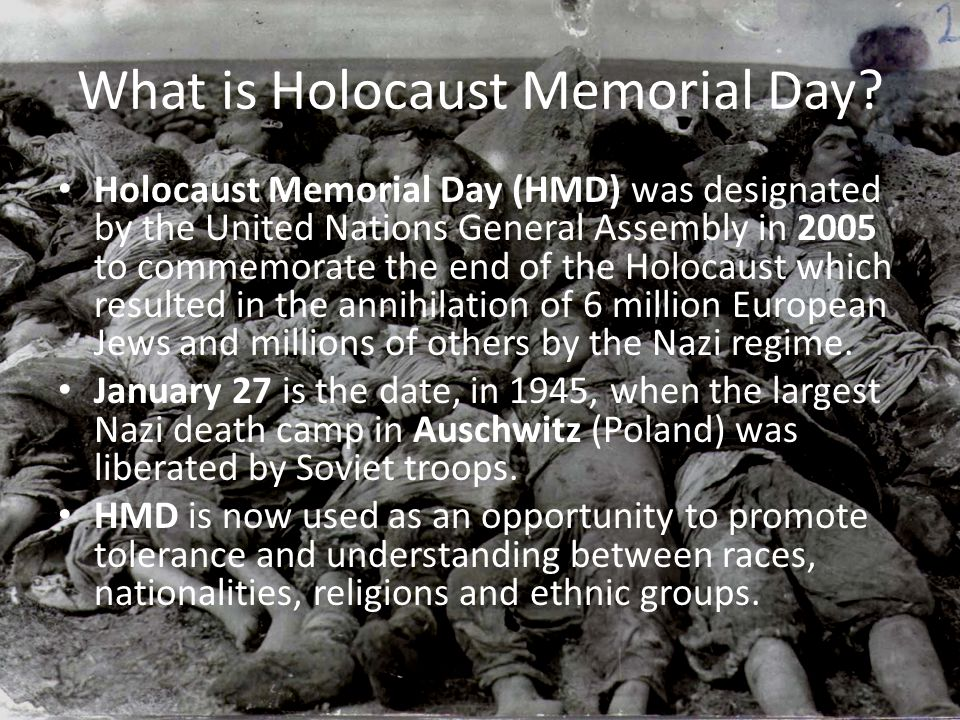 What is Holocaust Memorial Day.
