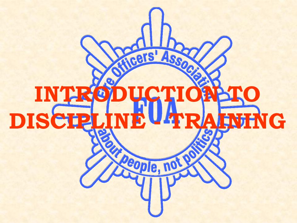 SESSION 3: DISCIPLINE Session 3 Disciplinary Investigations