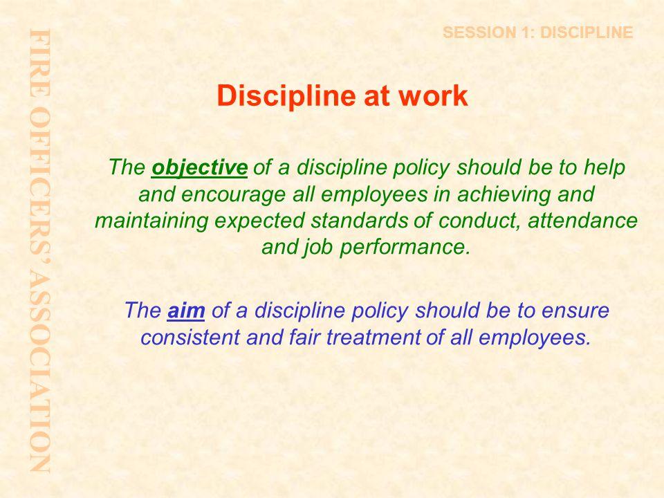 SESSION 8: LEGISLATION Session 8 FIRE OFFICERS' ASSOCIATION Discipline - Supporting Legislation
