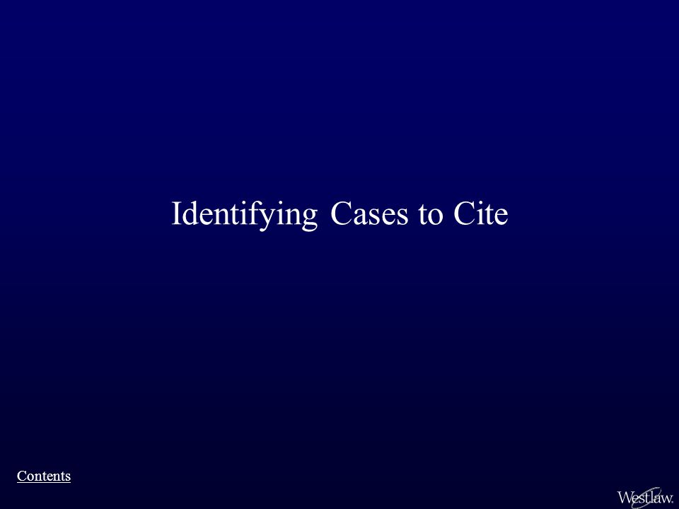 Identifying Cases to Cite Contents