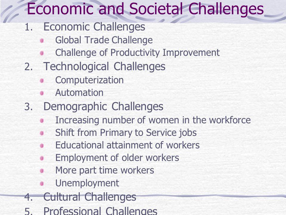 Economic and Societal Challenges 1.