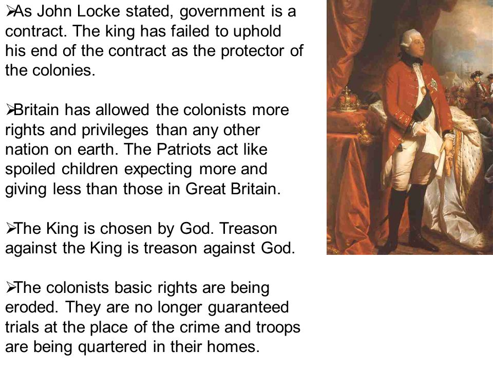  As John Locke stated, government is a contract.