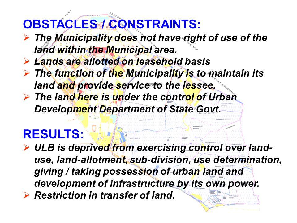 COMPONENT 1 INFRASTRUCTURE, LAND-USE & ENVIRONMENT DEVELOPMENT PLAN