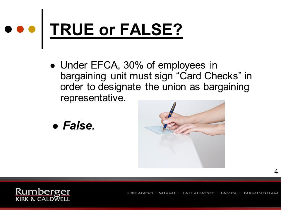 5 TRUE or FALSE.