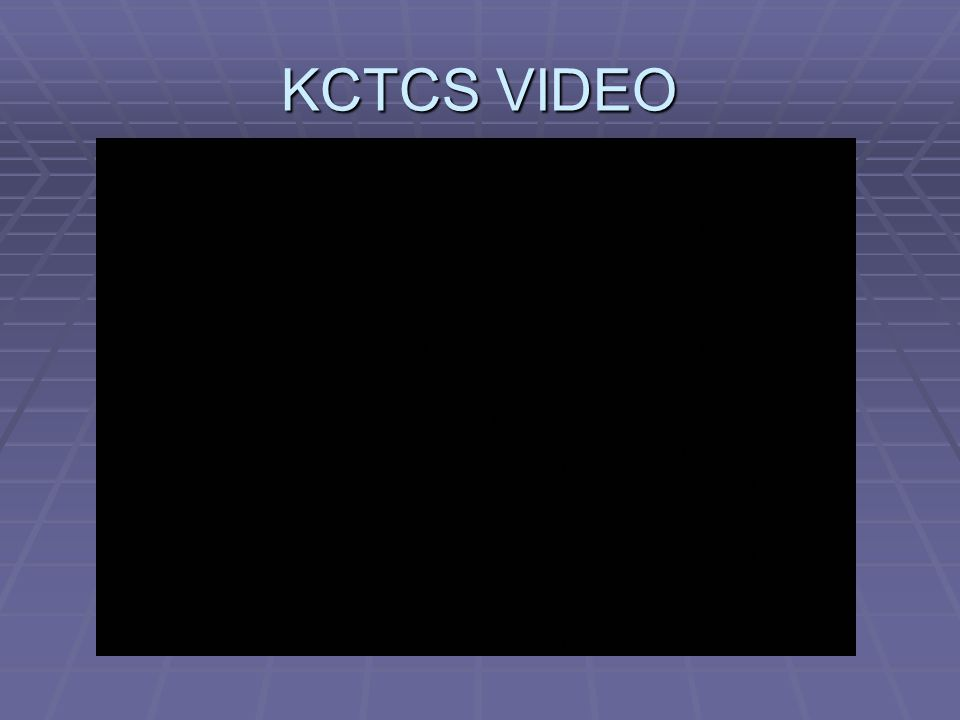 KCTCS VIDEO