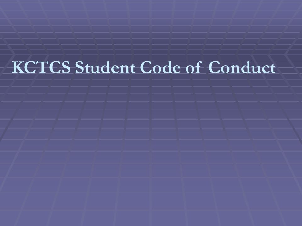 KCTCS Student Code of Conduct