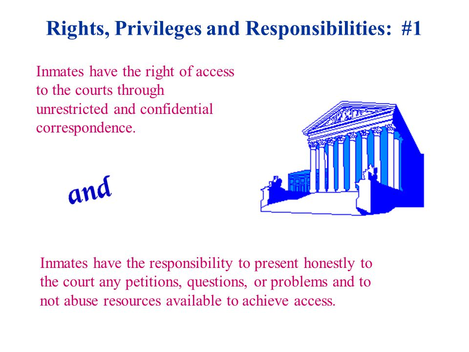 Rights, Privileges and Responsibilities: #11 Inmates have the right to due process hearings for alleged rule violations before punishment is imposed which results in the revocation of earned credits.