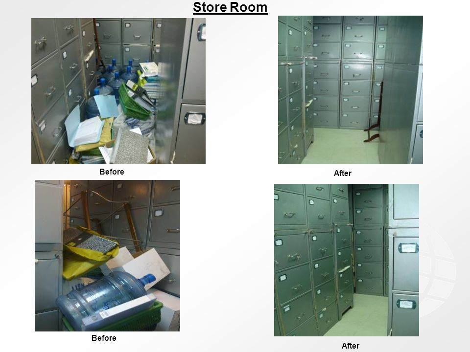 Before After Before Store Room After