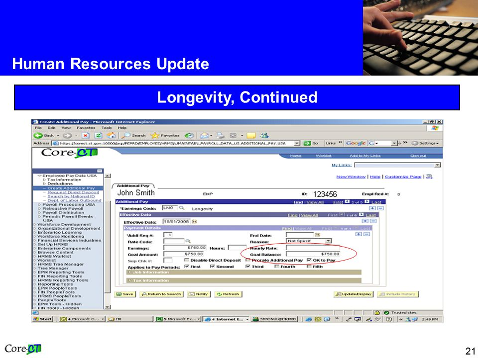 21 Human Resources Update Longevity, Continued