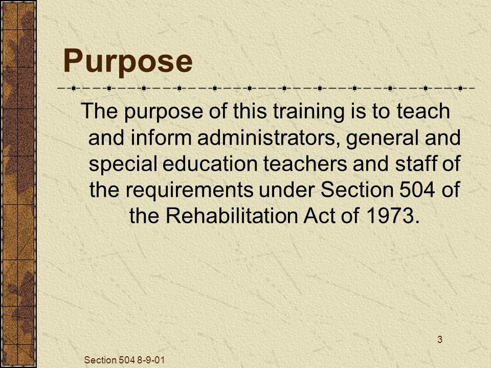 Section 504 8-9-01 34 Qualifying: If an Evaluation is Warranted … Parents have a right to: Contest determination Examine relevant records An impartial hearing Have an attorney present An opportunity for review