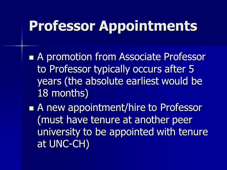 Permanent Tenure Appointments and Reviews